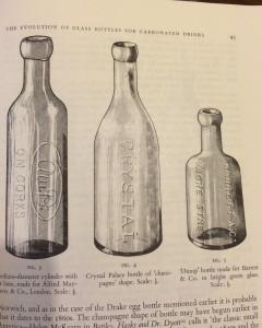 Crystal Palace 'Champagne shape bottle' & Barret & Co 'Dump' bottle